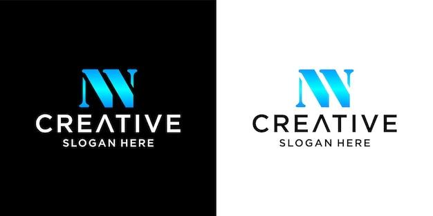 Projekt logo litery nn