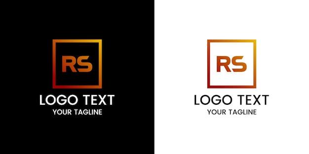 Projekt logo litery rs