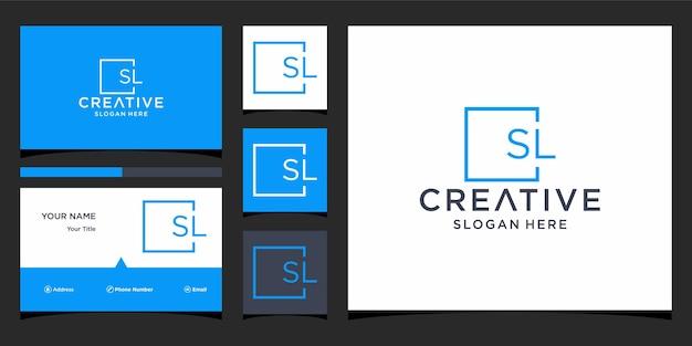 Projekt logo litery sl