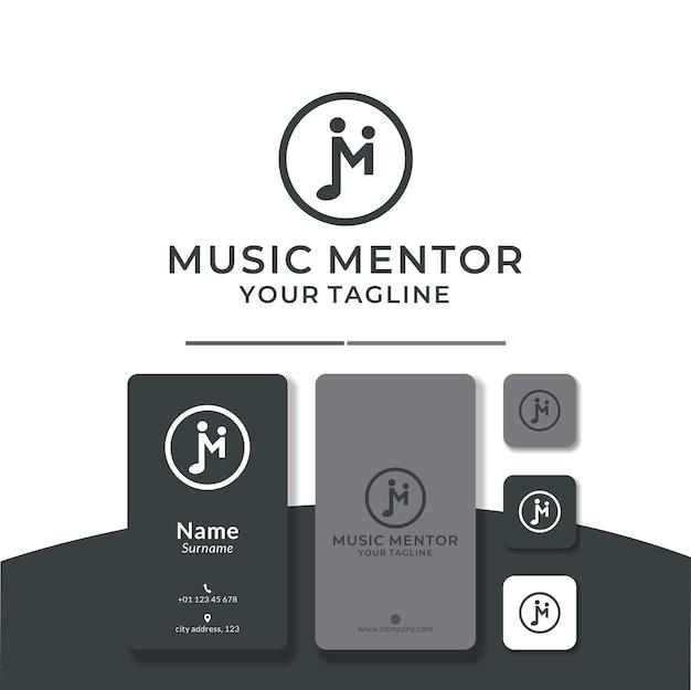 Projekt logo m dla notatki mentora muzycznego