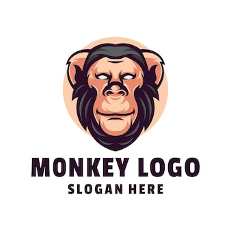 Projekt logo małpy