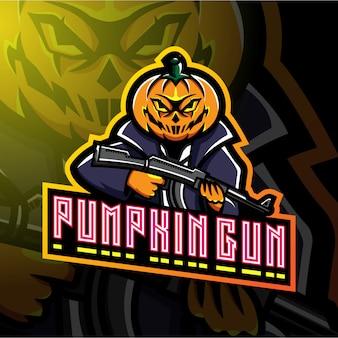 Projekt logo maskotka strzelców dyni