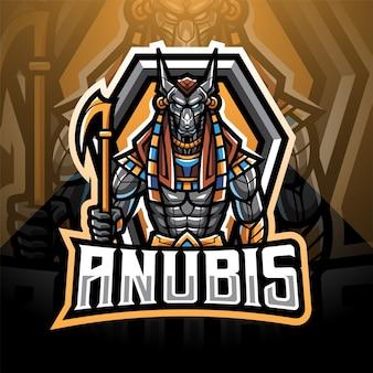 Projekt logo maskotki anubis esport