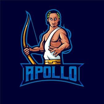 Projekt logo maskotki apollo z nowoczesnym stylem ilustracji