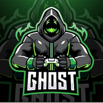 Projekt logo maskotki e-sportowej gry ghost