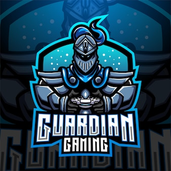 Projekt logo maskotki e-sportowej guardian gaming