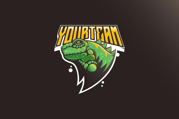 Projekt logo maskotki esport iguana