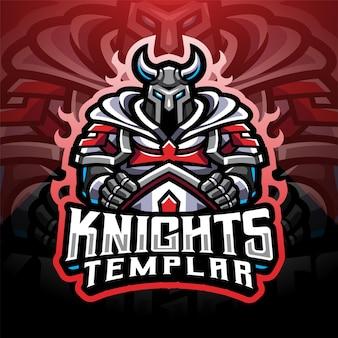 Projekt logo maskotki esport knights templar