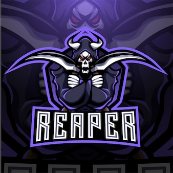 Projekt logo maskotki esport reaper
