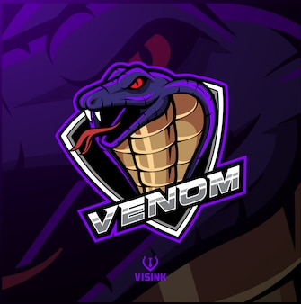 Projekt logo maskotki głowy cobra