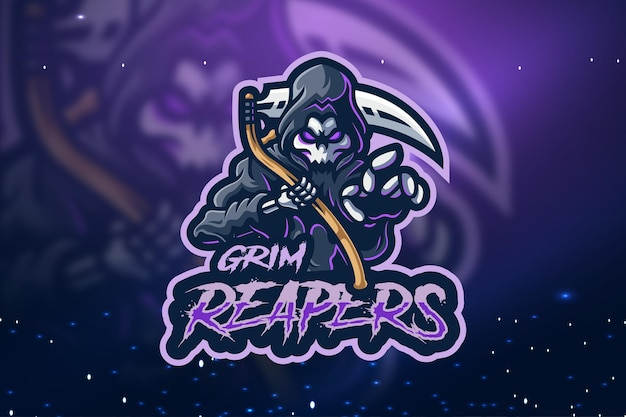 Projekt logo maskotki grim reapers esport