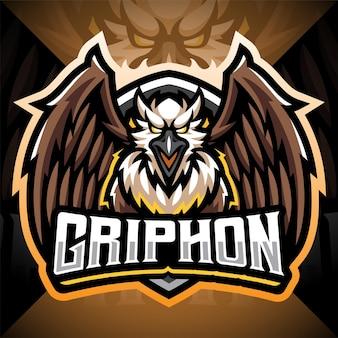 Projekt logo maskotki gryphon esport