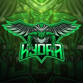 Projekt logo maskotki hydra esport