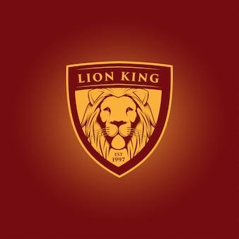 Projekt logo maskotki króla lwa
