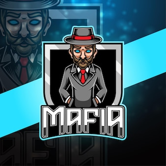 Projekt logo maskotki mafii esport
