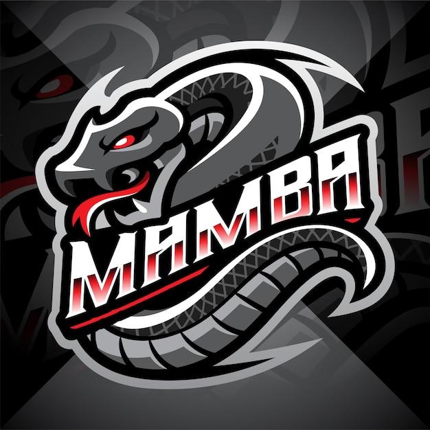 Projekt logo maskotki mamba esport