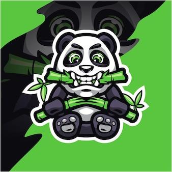 Projekt logo maskotki panda