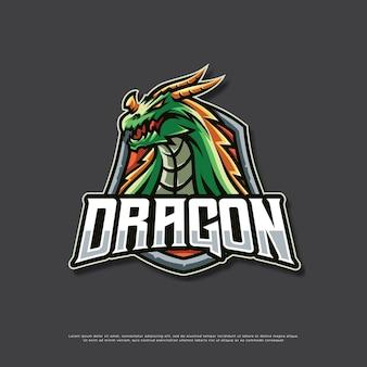 Projekt logo maskotki smoka