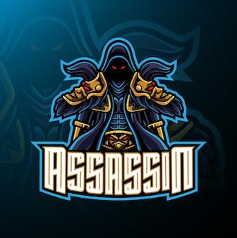 Projekt logo maskotki sportowej assassin