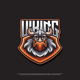 Projekt logo maskotki wikingów