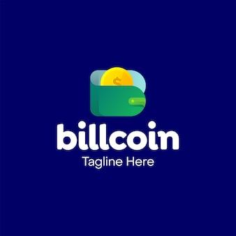 Projekt logo monety portfela bill