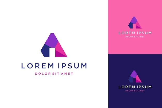 Projekt logo monogram lub inicjały litera a dla technologii