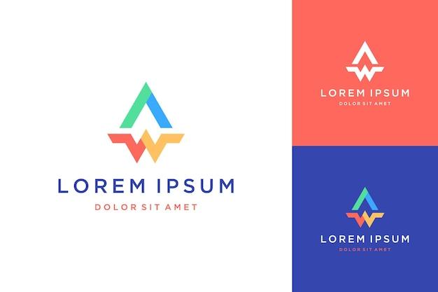 Projekt logo monogramu lub inicjały aw lub a i w dla biznesu