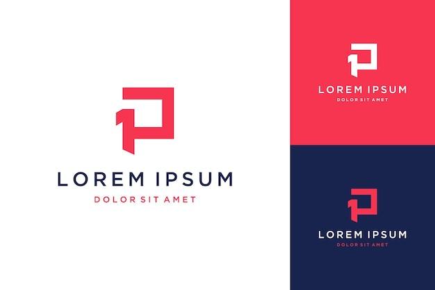 Projekt logo monogramu lub początkowy 1p