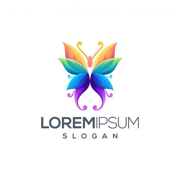 Projekt logo motyla