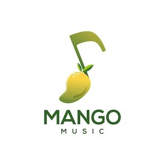 Projekt logo muzyki mango