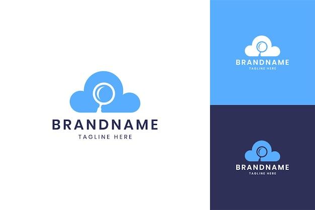 Projekt logo negatywna przestrzeń w chmurze lupy