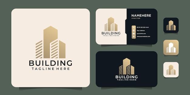 Projekt logo nowoczesnego budownictwa nieruchomości dla finansów nieruchomości biznesowych