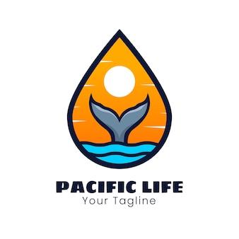 Projekt logo ogona wieloryba