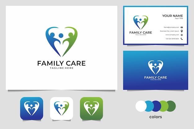 Projekt logo opieki rodzinnej i wizytówki