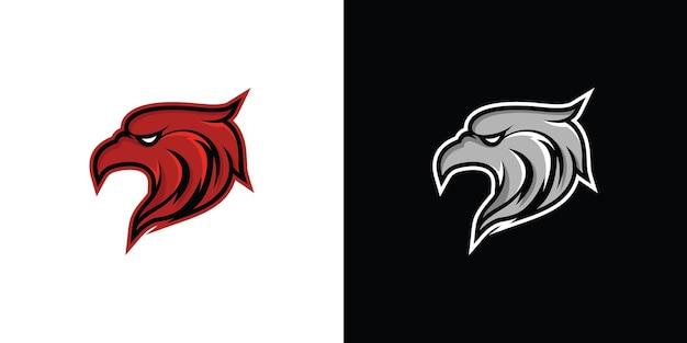 Projekt logo orła premium wektor