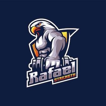 Projekt logo orła z mięśniami