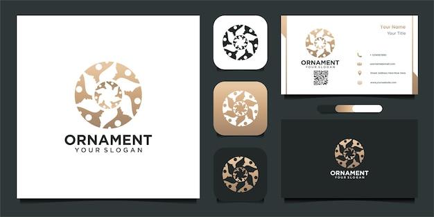 Projekt logo ornament w stylu abstrakcyjnym