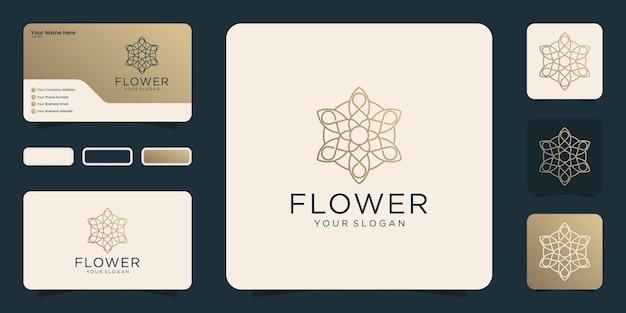 Projekt logo ozdobnych luksusowych mandali i wizytówki