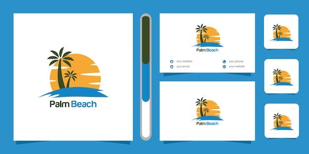 Projekt logo palm beach i wizytówki.