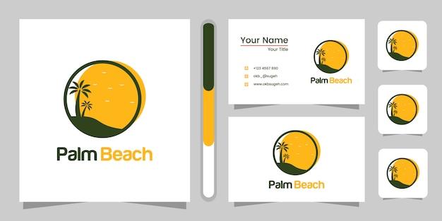 Projekt logo palm beach i wizytówki