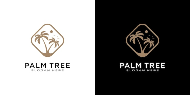 Projekt logo palmy