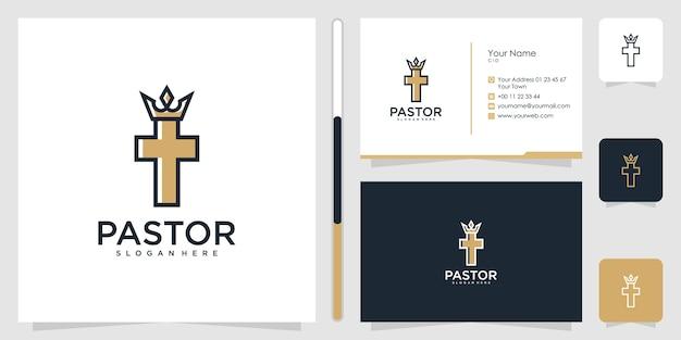 Projekt logo pastora i wizytówki