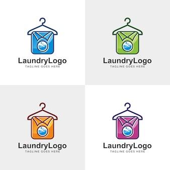 Projekt logo pralni z kolorem opcji