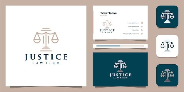 Projekt logo prawa i wizytówki