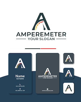 Projekt logo prędkościomierza litery a