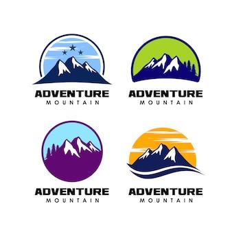 Projekt logo przygody. ikona projekt logo górskich