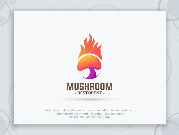 Projekt logo restauracji grzybowej