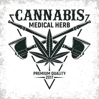 Projekt logo rocznika medycznej marihuany