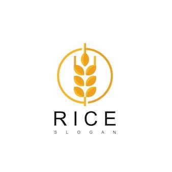 Projekt logo ryżu
