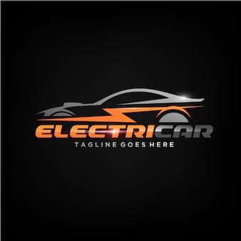 Projekt logo samochodu elektrycznego